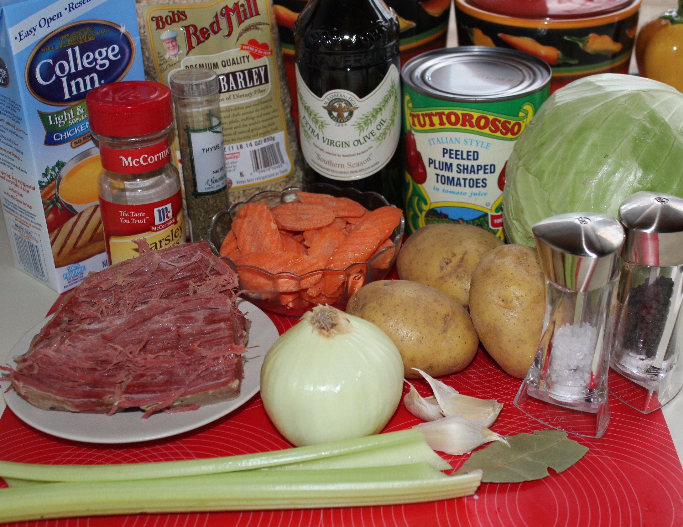 Kel's Corned Beef and Cabbage soup ingredients