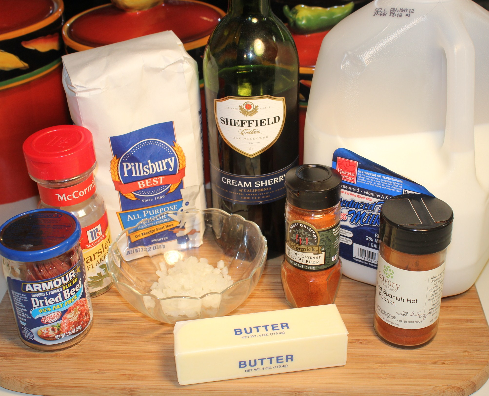 Creamed chipped beef ingredients